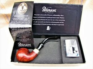 PETERSON OF DUBLIN 303 SMOKING PIPE~ZIPPO BAND~ZIPPO LIGHTER~UNUSED~BOX~2005