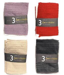 Face Cloth Towel Super Soft Microfibre Flannel Wash Cloth Travel Sports Gym PK 3