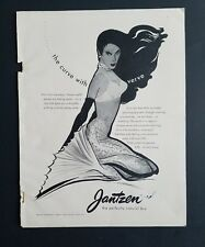 1952 women's Jantzen Perfectly Natural bra mermaid art curve with Verve ad