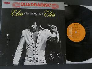 ELVIS PRESLEY - QUAD DISC LP THAT'S THE WAY IT IS - JAPAN RELEASE -  VINYL RARE