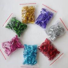 100pcs Multicolor 8mm Dreadlock Beads Adjustable Hair Braid Rings Cuff Clips FR