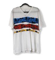 INC International Concepts NWT Men's Large Knit T-Shirt 100% Cotton S/S V-Neck