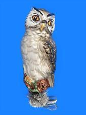 EAGLE OWL EUROPEAN BLOWN GLASS CHRISTMAS TREE ORNAMENT FOREST