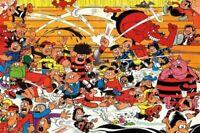 THE BEANO POSTER ~ FIGHTING CAST 24x36 Cartoon Comic Strip