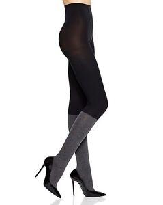 DKNY Knee High Sock Tights Black Gray 60Denier #0C178 NWT Small or Medium