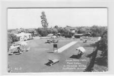 RPPC KIAMI LODGE Patio Scottsdale, Arizona Paradise Valley 1949 Vintage Postcard