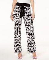 INC International Concepts Womens Printed Tie-Waist Pants Scroll Heaven