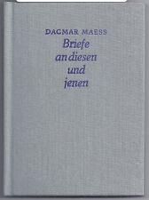 Buch Dagmar Maess Briefe an diesen und jenen DDR 1989 Evangelische VA Berlin