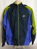 NIKE Vintage 90s Hooded Full Zip Windbreaker Jacket Lightweight Mens XL