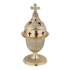 Beautiful Brass Vigil Oil Lamp for Prayer Corner Orthodox Church Gift Kandili