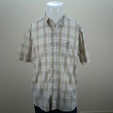 Lacoste Multicolor Long Sleeve Button Front Plaid Casual Shirt Mens 41