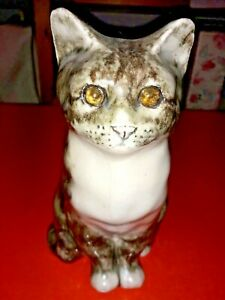 """WINSTANLEY TABBY CAT 9"""" TALL ~ PLEASE NOTE CONDITION"""
