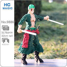 HC 9886 Anime One Piece Roronoa Zoro Pirate DIY Mini Diamond Blocks Building Toy