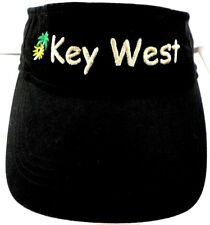 Key West Anvil 100% Cotton Black One Size Fits All Visor VGC Free Shipping!!!