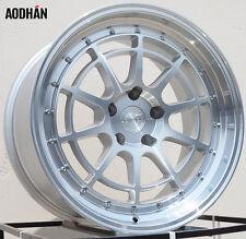 18X9.5 Aodhan Ah04 5X114.3 +30 Machined Rims Fits Eclipse Lancer Nissan Rx8 Rx7