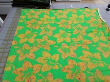 Green with Large Leaf prints 100 % Cotton Fabric