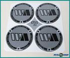 4x Emblema Adesivo di silicone ∅= 55mm per COPRIMOZZO ADESIVO CON ARGENTO NUOVO