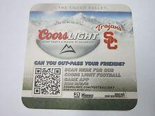 Beer Coaster ~*~ 2012 COORS Brewery Light ~ U of S Calif. Trojans Football Team
