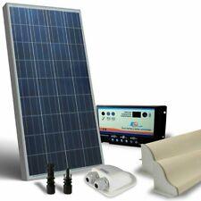 Kit Solare Camper 100W 12V Base Pannello Fotovoltaico, Regolatore, Accessori