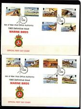 Isle of Man 1983 Marine Birds Two  First Day Covers