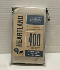 Heartland® HomeGrown™ 400-Tc Queen Pillowcases Solid Stone