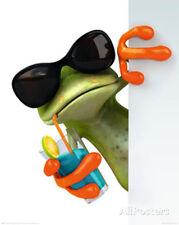 Frog Drink Mini Poster Print, 16x20