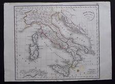 § carte Italiae Antique mappa nova - Félix Delamarche 1829