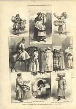 1874 corrispondenza contadini RUSSI BOY Infermiera Bambino pescivendola Arancione venditore