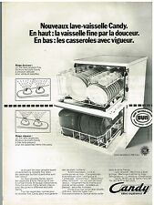 Publicité Advertising 1973 Le lave Vaisselle C 184 Inox Candy