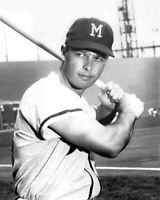 1950s Milwaukee Braves EDDIE MATHEWS Vintage 8x10 Photo Baseball Print
