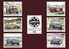 GOLDEN ERA - SET OF 7  RACING MINI COOPER CARDS -  2000