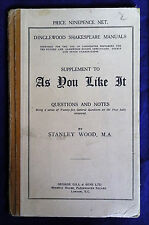 AS YOU LIKE IT, A Dinglewood Shakespeare Manual by Stanley Wood (George Gill)