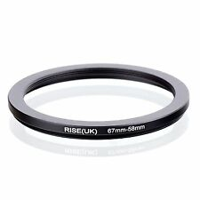 RISE(UK) 67mm-58mm 67-58 mm 67 to 58 Step down Ring Filter Adapter black