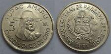 Peru 5 Sohlen de oro 1977 ## F