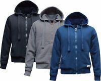 New Mens/Women Fur Lined Sherpa Hoodie Hooded Top/ Winter Warmer M - XXL