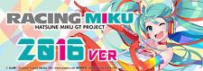 Racing Miku 2016 version box slap sticker JDM car stance window bumper decal.