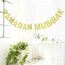 Ramadan Mubarak Golden Letter Party Festival Decoration Bunting Garlands Banner