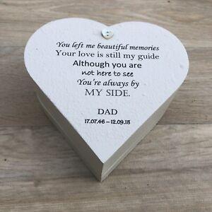 DAD MEMORIAL Bereavement Or ANY NAME MEMORY Box PERSONALISED