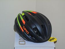Giro Synthe MIPS Cycling Helmet, Matte Black/Lime/Flame, Medium (55-59cm), New