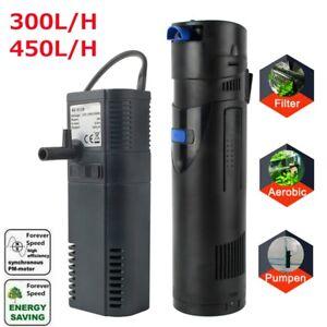 300/450 L/h Aquarium Innenfilter Filtersystem Sauerstoffversorgung Aquariumpumpe