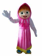 Mascotte di Masha e Orso costume completo per adulti professionale rosa grande