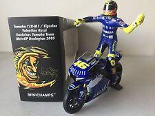 Minichamps Rossi 2005 Yamaha w-figurine Donington LE 720 pcs 1/12