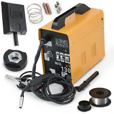 New listing Complete Welder Stainless Steel Flux-Corded Mig-130 Electric Welding Machine Set