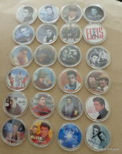 bulk of 24 coins ELVIS PRESLEY THE KING OF ROCK N ROLL  24K GOLD  PLATED  COIN