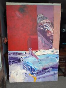 Large abstract painting on canvas