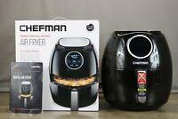Chefman Digital 6.5 Liter/6.8 Quart Air Fryer with Space Saving Flat Basket