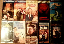 Lot of 10 Classic Film Vhs Tapes - North by Northwest The Long Hot Summer +