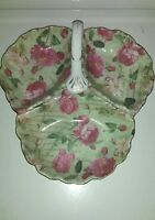 Royal Danube Floral Design Divided Candy Dish with Handle