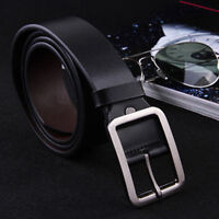 Luxury New Genuine Leather Belts Alloy Pin Buckle Waistband Men's Waist Belts