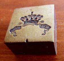 """Matrice de sceau STERN en bronze couronne armoiries 19e siècle """"QUAND MEME"""""""